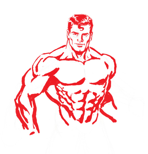 Superman Chest Drawing It's Not Necessary to Draw Him