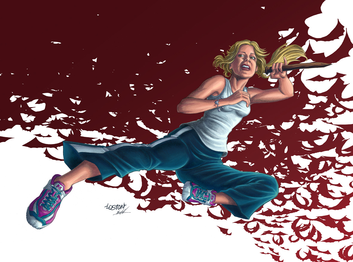Buffy the Vampire Slayer--colors by Nate Lovett