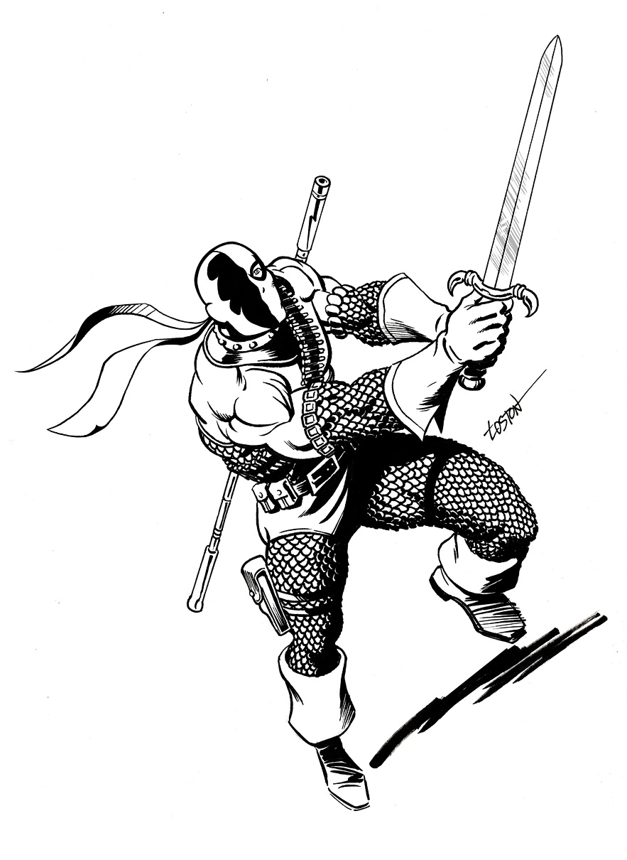 coloring pages of deathstroke costume - photo#10