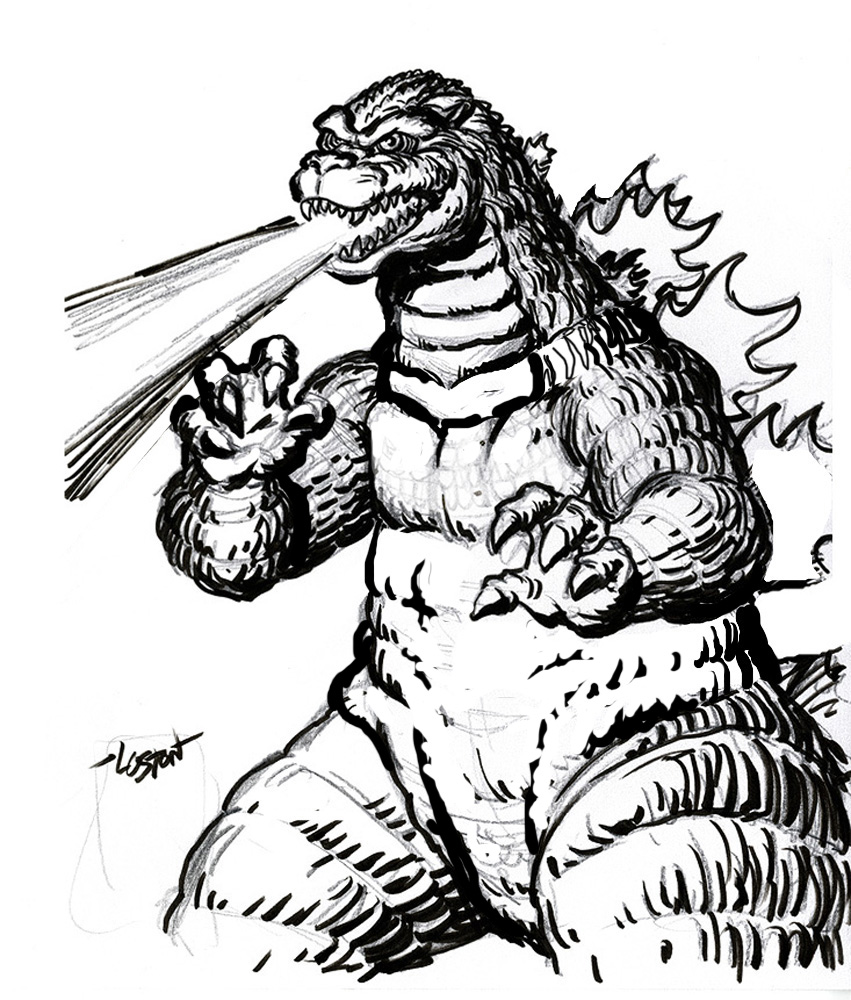 godzilla 2003 colouring pages