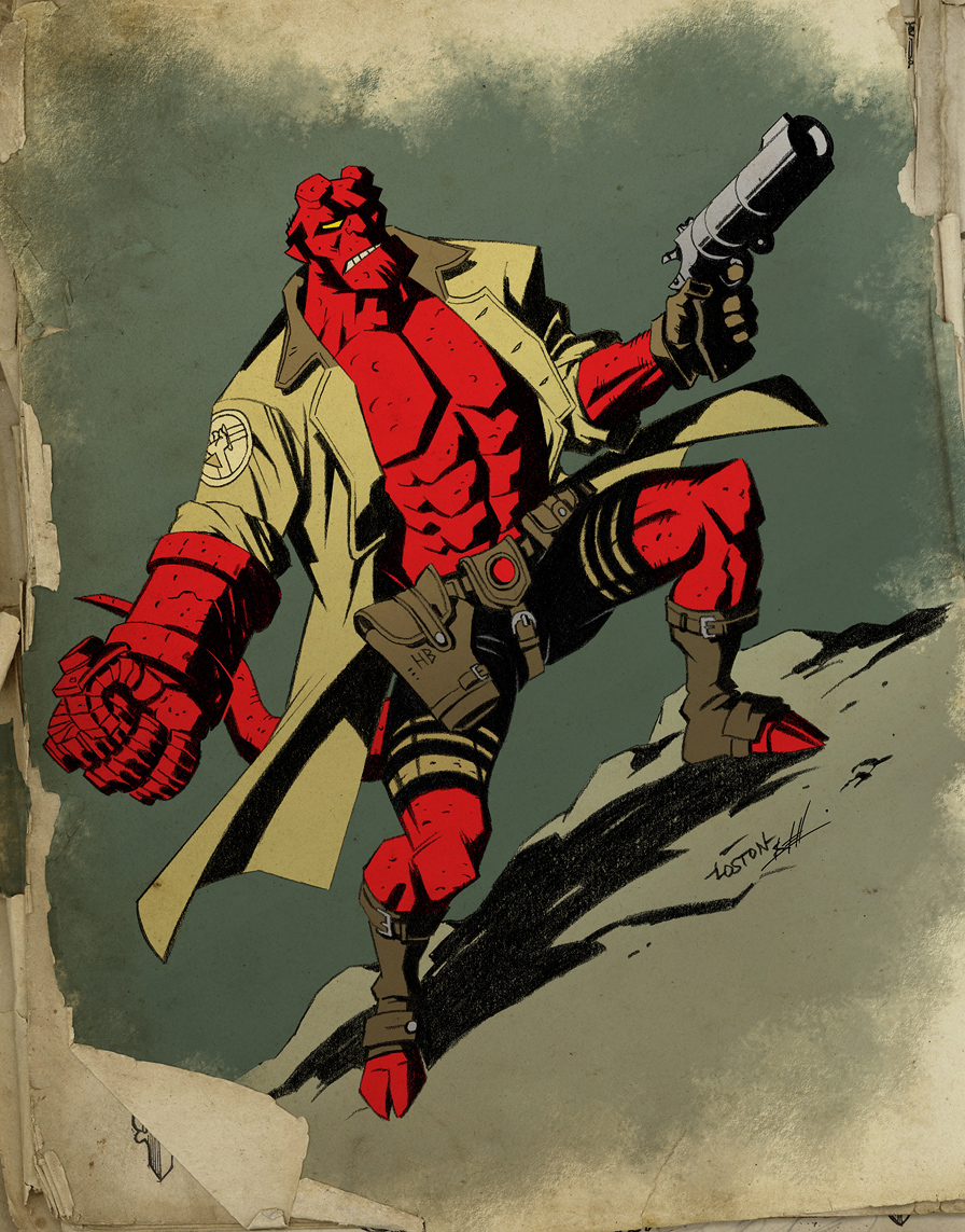 Hellboy--colors by Nate Lovett