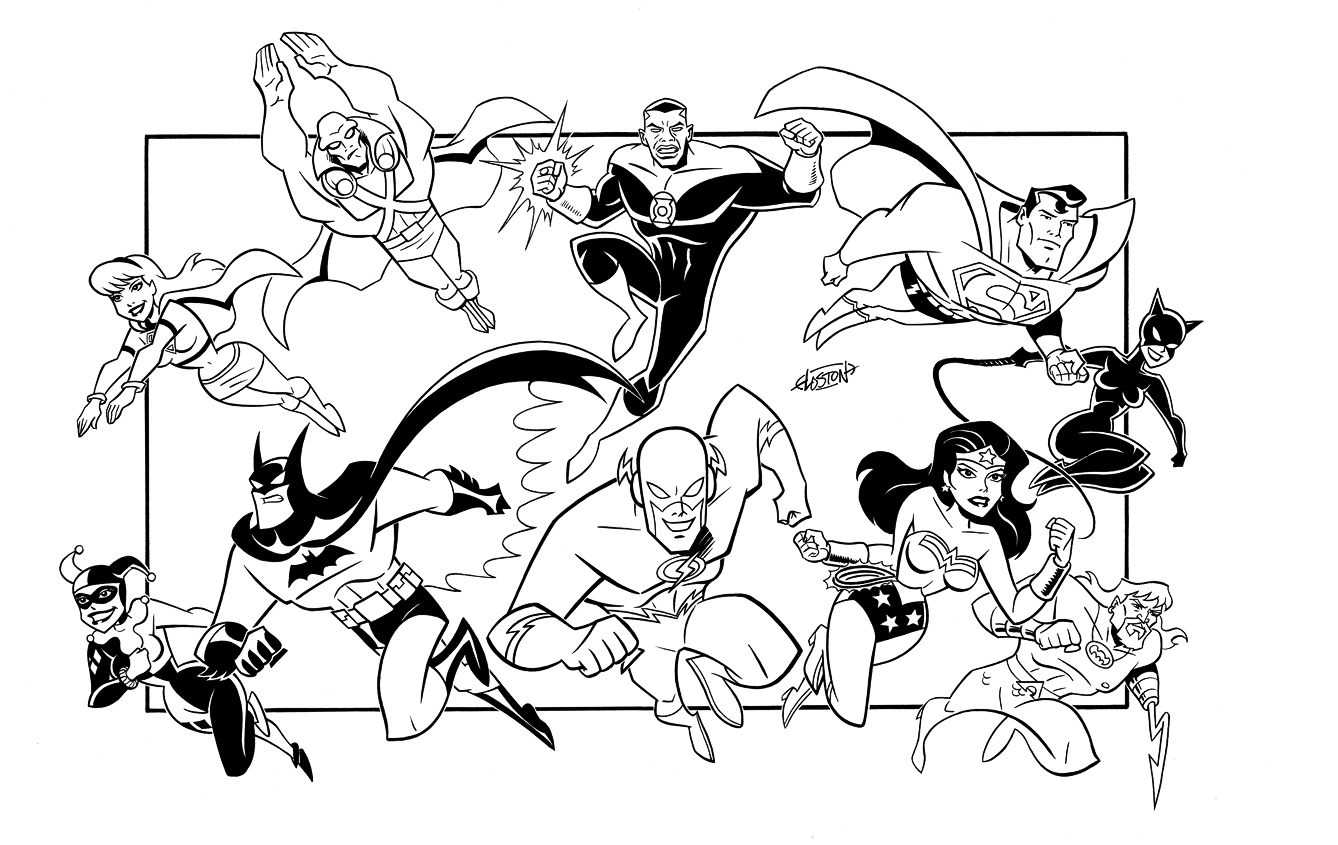 Free Coloring Pages Of The Young Justice Justice Coloring Pages