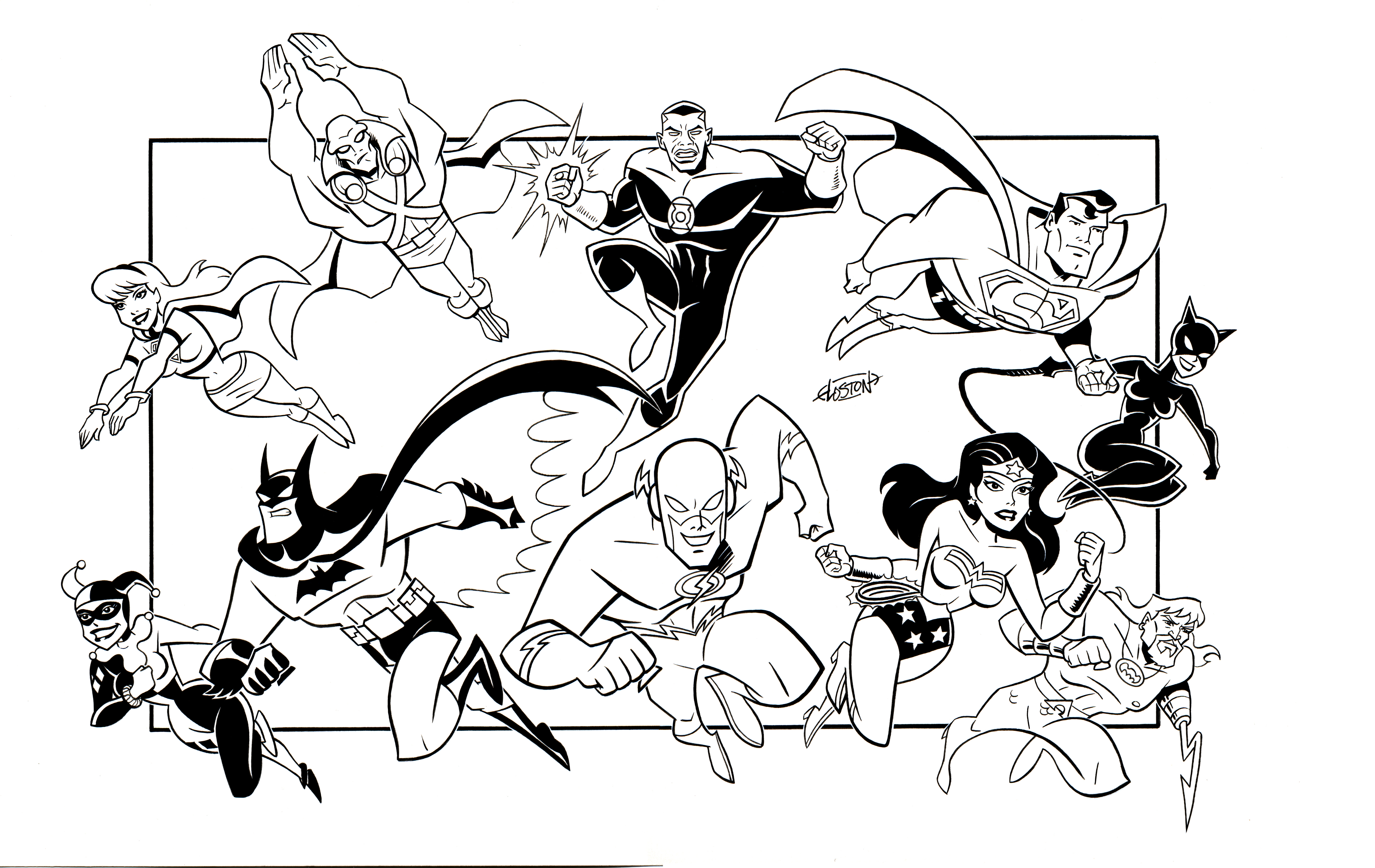 justice league doom coloring pages - photo#12