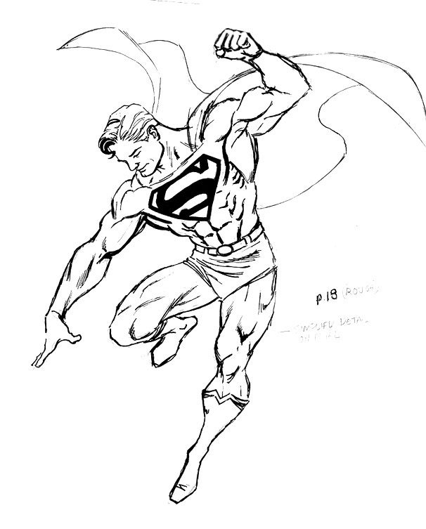 Superman Chest Drawing This From a Superman