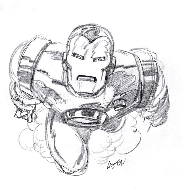 Loston Iron Man Pencil Drawings