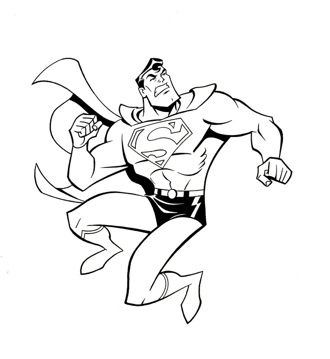 free coloring pages of superman the animated series